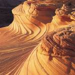 """Curved Red Rock Patterns"" by ArtLoversOnline"
