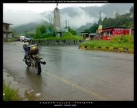 Bike in frount of Balakot Landmark - Pakistan