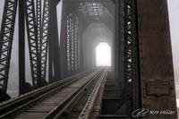 Railroad Bridge in Fog