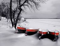 Boats on Whiteshell Lake