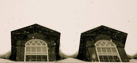 Snowing on the Dorms