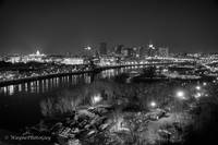 City Lights - St Paul BW