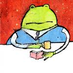 """Frog Reads A Book"" by rmcornelius"