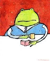Frog Reads A Book