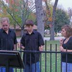 """rod, eric and ashley courthouse lawn 08"" by prettysureitsaduck"