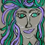 """Medusa in Purple & Green"" by HeidiZeile"