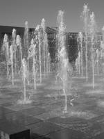 Black and white Fountain