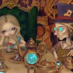 """Steampunk Alice in Wonderland:  Alice & Mad Hatter"" by strangeling"