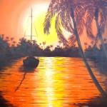 """Sunset Palms"" by Randall"