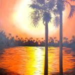 """Sunset Palms 2"" by Randall"