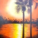 """Sunset Palms 2"" by Randall"