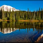 """Mt Rainier from Reflection Lakes"" by robgerman"