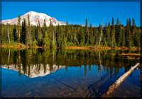 Mt Rainier from Reflection Lakes