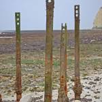 """Newhaven remnants of beach defences"" by catherineflowermonkey"