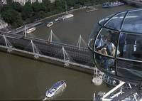 London Eye and Hungerford Bridge