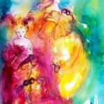 """""""Rondò in Lagoon / Venetian Masquerade Characters"""" by BulganLumini"""