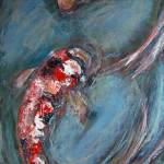 """2 koi expressionist painting"" by kristensteinfineart"