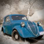 """Old Blue Car"" by vandervoort"