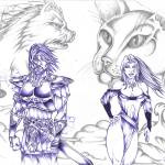 """Norse Gods...Frey and Freya"" by odinsraven"