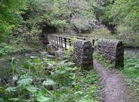 Foot-bridge at Millers Dale  (12291-RDA)