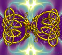 DRAGON LOVE IN PURPLE FRACTAL WAVES