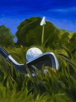 Keating Golf Iron Approach Shot to Flag Print