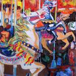 """Off to the Races Balboa Park Carousel by Riccoboni"" by BeaconArtWorksCorporation"