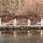 """Cherubs overlooking Icy Pond"" by SusanGrissom"