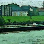 """Barge on the Rhine"" by billbarber"