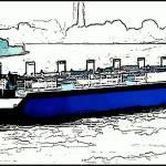 """Barge on the Rhine1"" by billbarber"