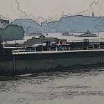 """Barge on the Rhine2"" by billbarber"