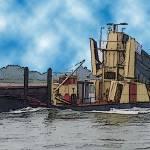 """Barge on the Rhine7"" by billbarber"