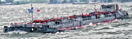 Barge on the Rhine 11