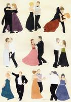 Dancers waltzing