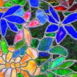 """Floral - Stained Glass"" by Philippa"