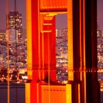 """Through The Golden Gate Bridge at Night"" by sfbayimages"