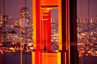 Through The Golden Gate Bridge at Night