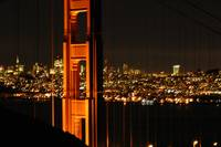 San Francisco Thru The Golden Gate Bridge at Night