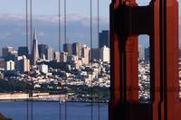 San Francisco Thru The Golden Gate Bridge