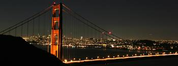 Clear October Night Golden Gate Bridge