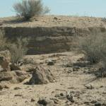 """Old stone foundation in desert"" by arag"