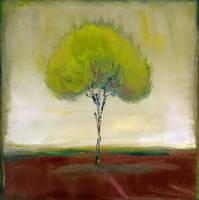 Singular Beauty : Olive Tree Landscape Painting