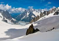 Extreme Landscape of an Alps Glacier