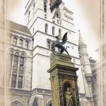 """The Royal Courts of Justice & Temple Bar Memorial"" by PhotoThirteen"