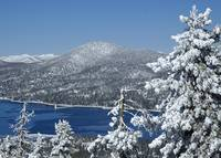 Big Bear Lake--Winter Wonderland--from Snow Summit