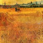 """Arles View from the Wheat Fields"" by ArtLoversOnline"