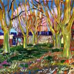 """Avenue of Plane Trees near Arles Station"" by ArtLoversOnline"