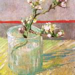 """Blossoming Almond Branch in a Glass"" by ArtLoversOnline"