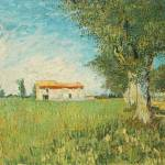 """Farmhouse in a Wheat Field"" by ArtLoversOnline"