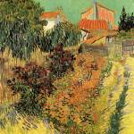 """Garden Behind a House"" by ArtLoversOnline"